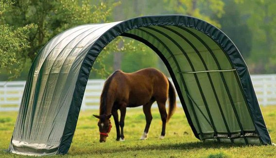 mobilní přístřešek pro koně