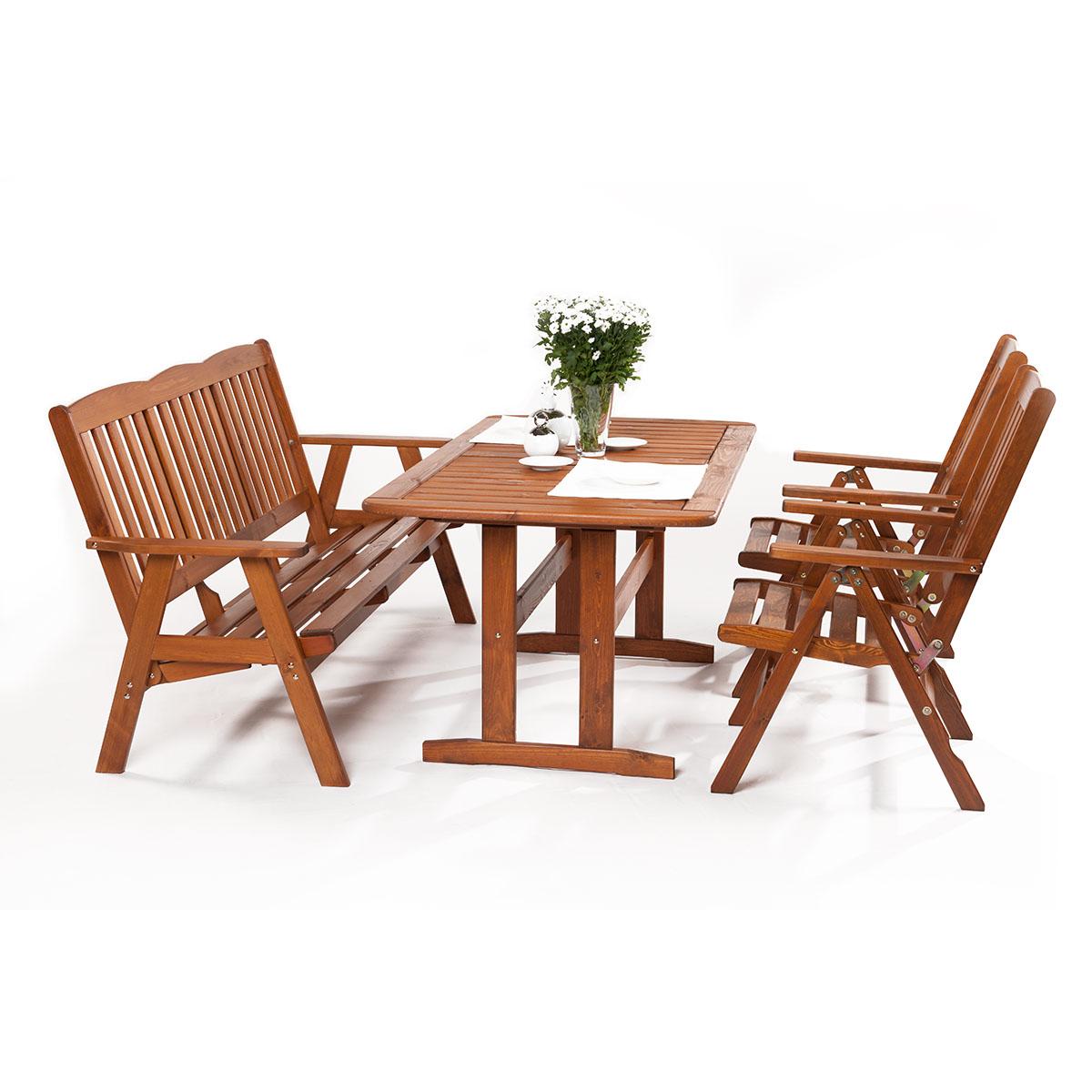 Dřevěná zahradní sestava Sadach 2+3