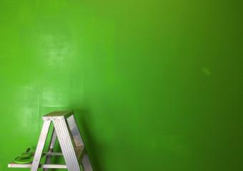 žebřík - pokoj - malování - zelená, štětec - pxb