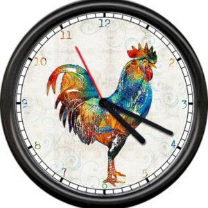 vesnické kuchyňské nástěnné hodiny