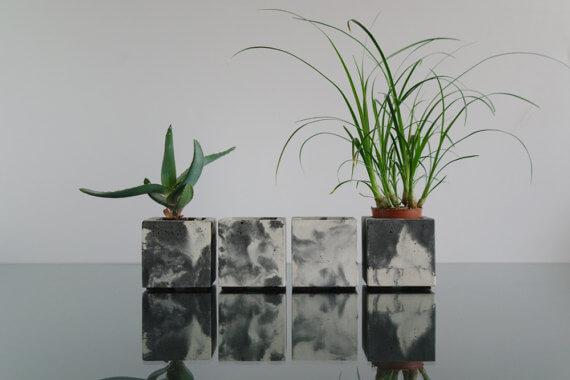 etsy - ConcWoodStreet - betonový květináč - 4
