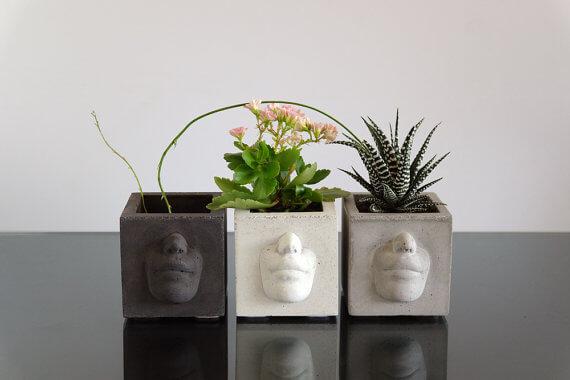 etsy - ConcWoodStreet - betonový květináč