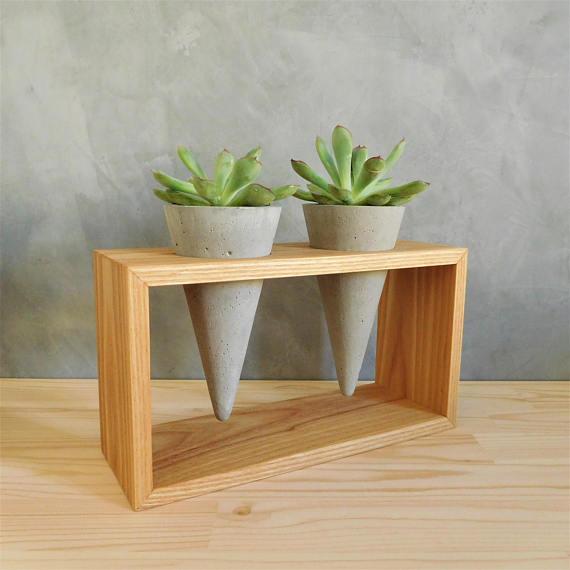 etsy - woodini - betonový květináč