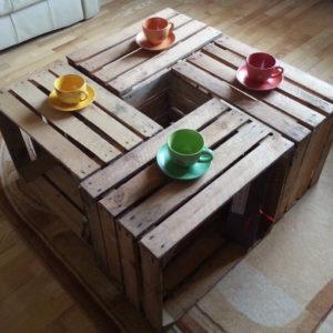 konferenční stolek z beden